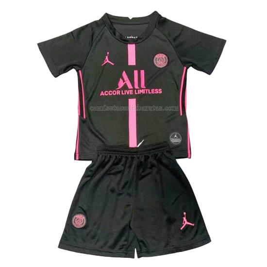 camiseta niños del paris saint-germain del negro 2020-21