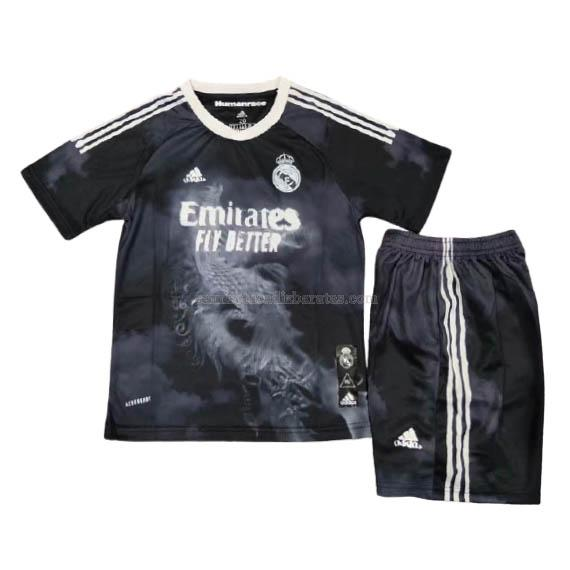 camiseta niños human race x pharrell real madrid 2020-21