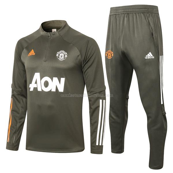 sudadera manchester united verde oscuro 2020-21